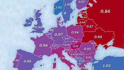 sex ratio in Europe 2016