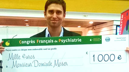A publication by Dominik Moser rewarded during the French Psychiatry Congress