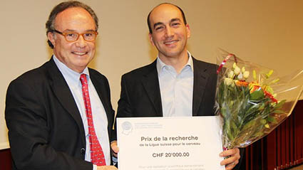 Micah Murray is awarded the Research Prize of the Swiss Brain League