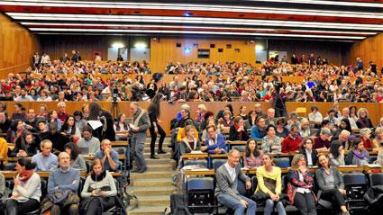 full auditorium at conference